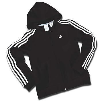 adidas 3 Streifen Core Hoodie Kapuzenjacke schwarz