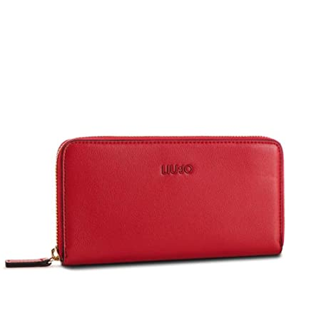 9727b2cc40 Portafoglio Donna Grande Zip Around | Liu Jo | A19174E004091761-Rosso:  Amazon.co.uk: Luggage