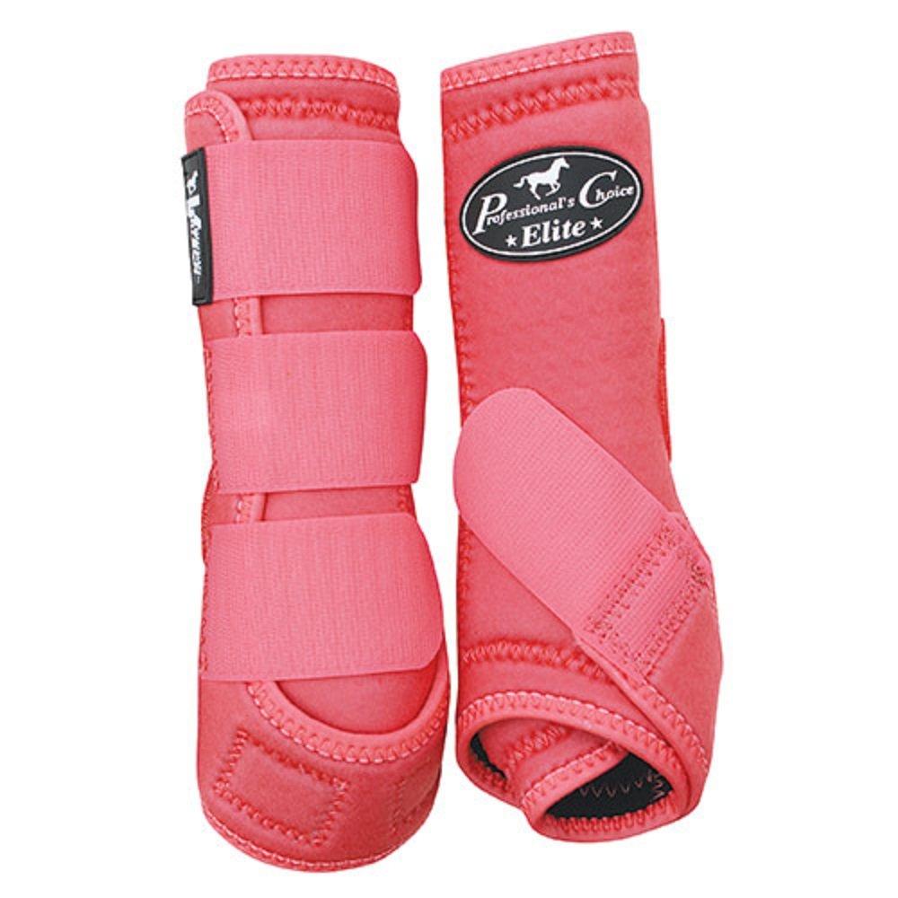 Professional's Choice 4-Pack VenTech Elite Sports Medicine Boots Front Rear Legs Light Weight Comfortable Horse Leg Protection (Melon, Medium)