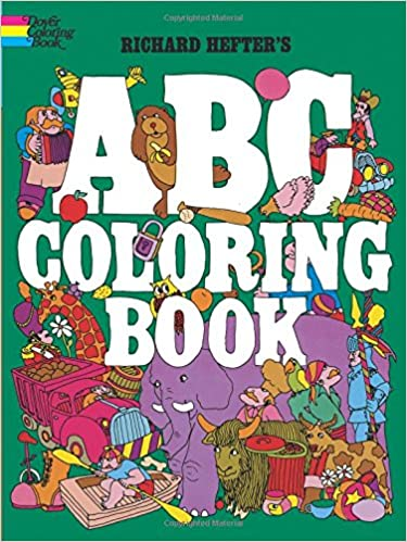 abc coloring book dover coloring books richard hefter 0800759229697 amazoncom books - Abc Coloring Book