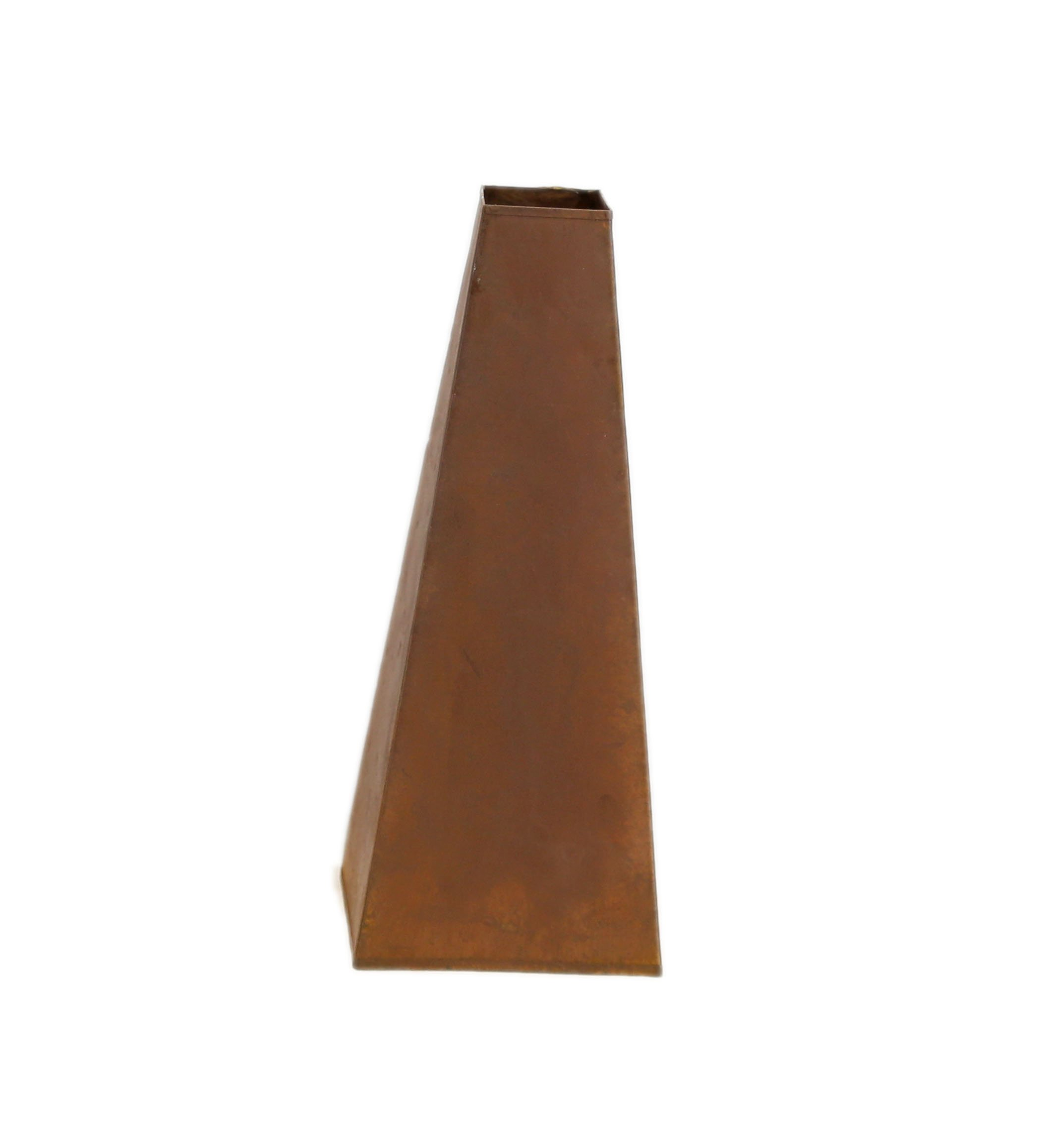 Large Rusty Tapered Vase