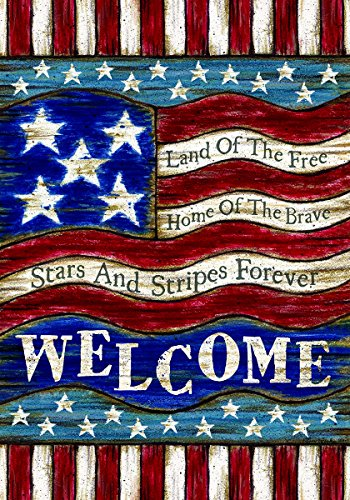 Patriotic Welcome Garden Decorative Double