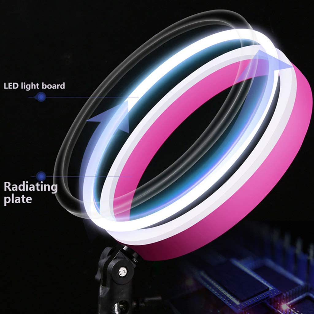 Dimmable SMD Led Ring Light Flash Video Light 35W 3000-6500K Dimmable with Stand Independent Control Switch for Smartphone Self-Portrait Video Shooting