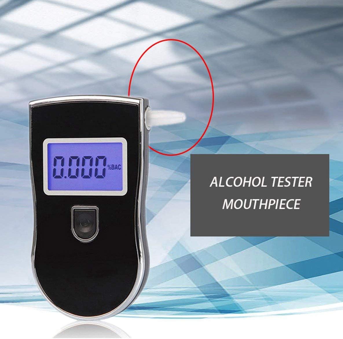 Rouku Boquillas duraderas para probador de Alcohol en el Aliento Alcohol/ímetro Boquillas de soplado de alcohol/ímetro Digital Boquillas