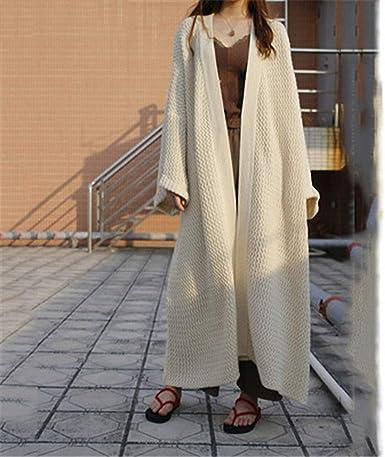 Womens Loose Oversize Cardigan Sweater Coat Knitted Long Overknee Coats Autumn D