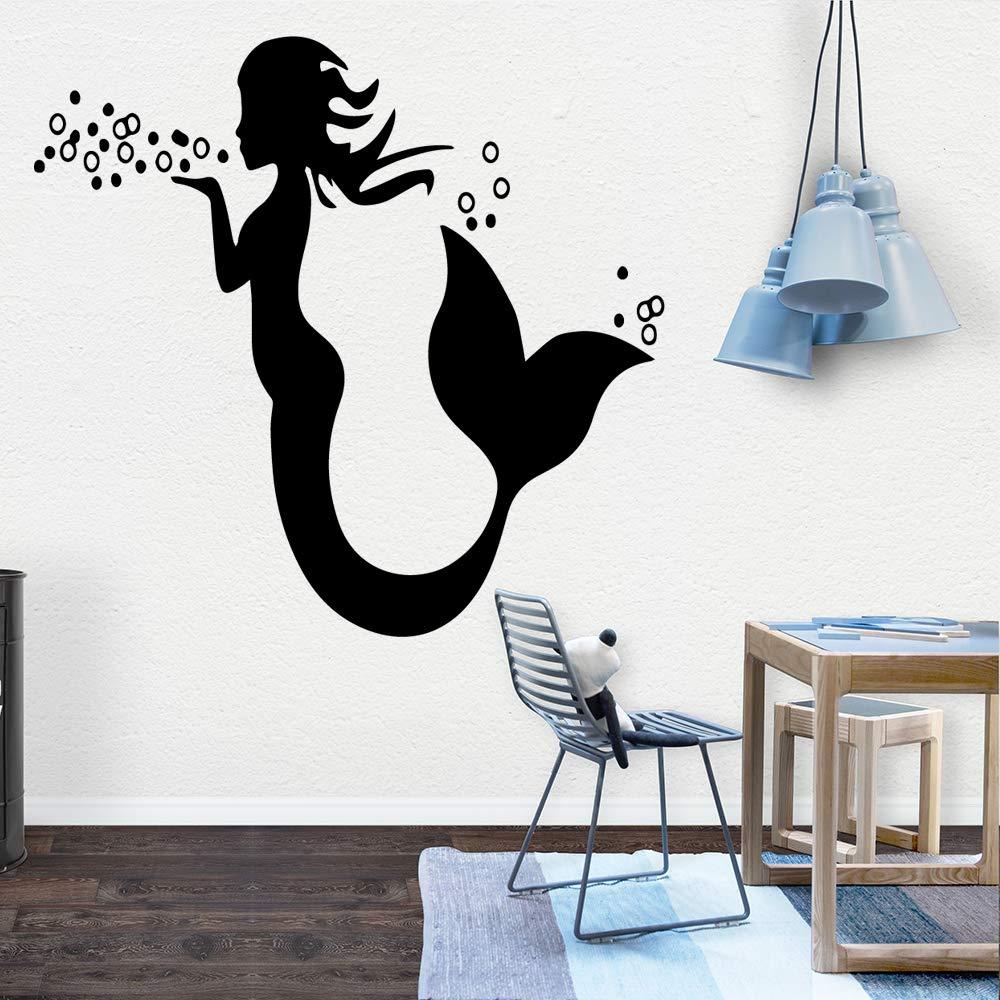 HNXDP Mermaid Pvc Tatuajes de pared Decoración para el hogar ...