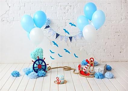 YongFoto Globos de Papel con diseño de Flores para el Primer cumpleaños, diseño de Flores de Papel, Ideal para Decorar el Suelo de la Madera o la ...