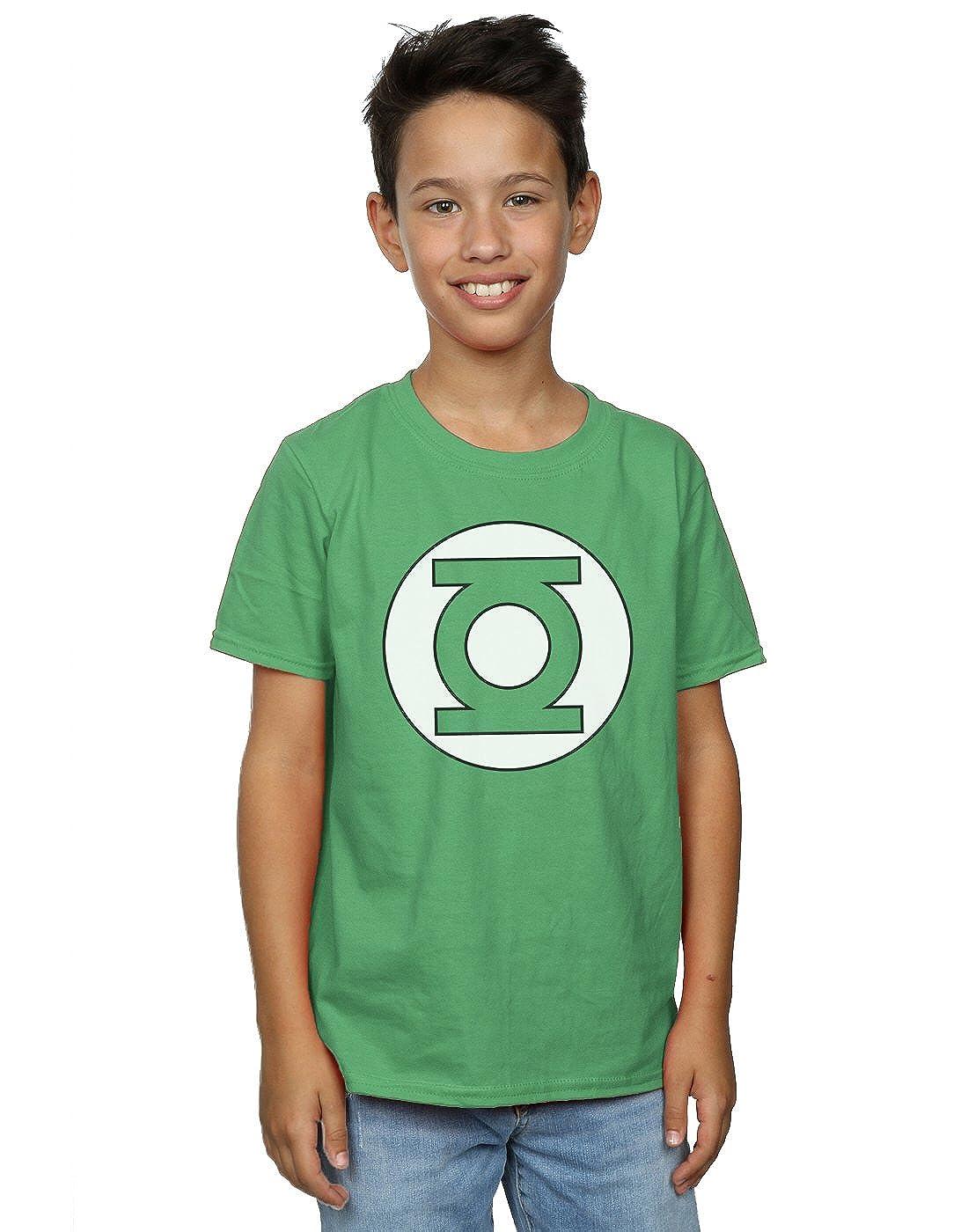 ce0d188fe Amazon.com: DC Comics Boys Green Lantern Logo T-Shirt: Clothing