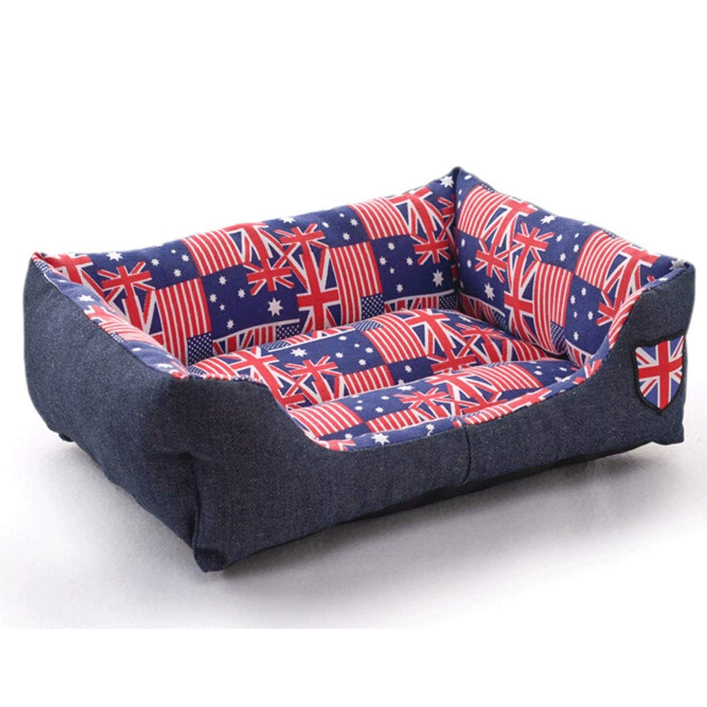 55×40×12cm Denim Sofa Pet Nest, Household Small and MediumSized Dog Pomeranian Dog Bed, NonSlip Cat Litter Mat Four Seasons Universal Pet Supplies (Size   55×40×12cm)
