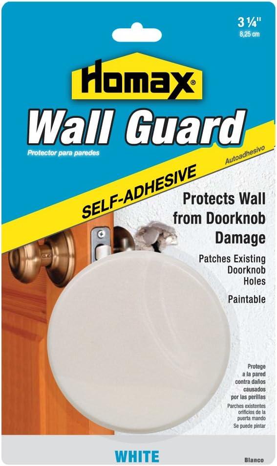 Homax Group 5103 Wall Guard Door Knob Bumper Plate 3.25-Inch