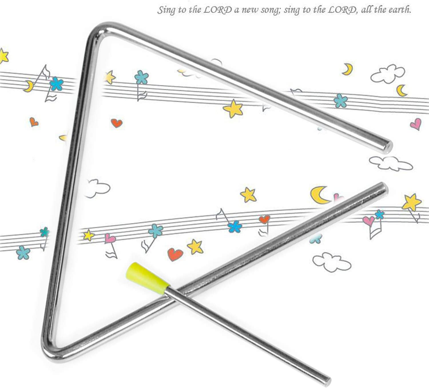 YCDTMY Childrens Musical Toy Orff Instrument Percussion Triangle 4.92 in