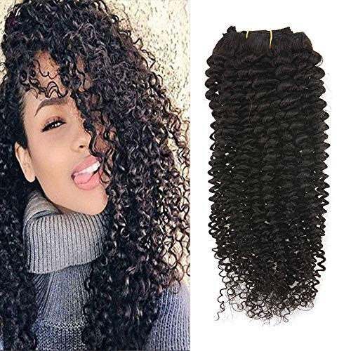 Full Shine 12 7 Pcs 100g Curly Hair Clip Ins For African Hair Extensions American Women Natural Hair Full Head Clip In Remy Human Hair Extensions Curly Black Remy Human Hair for Black Women