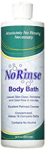 No-Rinse Body Bath, 16 fl oz - Leaves Skin Clean, Refreshed and Odor-Free - Makes 16 Complete Baths