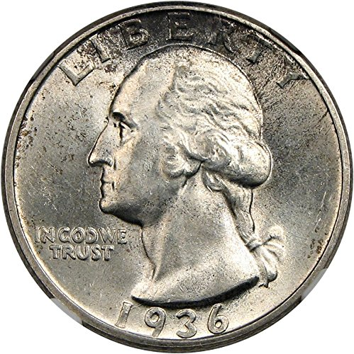 1936 D Washington Quarters (1932-98) Quarter MS61 NGC