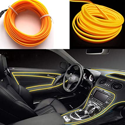 Light Wires for Car 3m//9ft Neon El Wire 12V LED Cold Lights Flexible Rope Lights Auto Lamps for Wedding Car Decorations Red