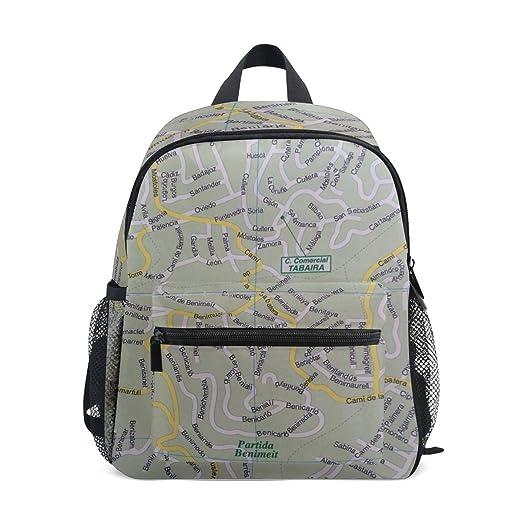 Amazon.com: MONTOJ Map Bookbag Travel Bag Packable School ...