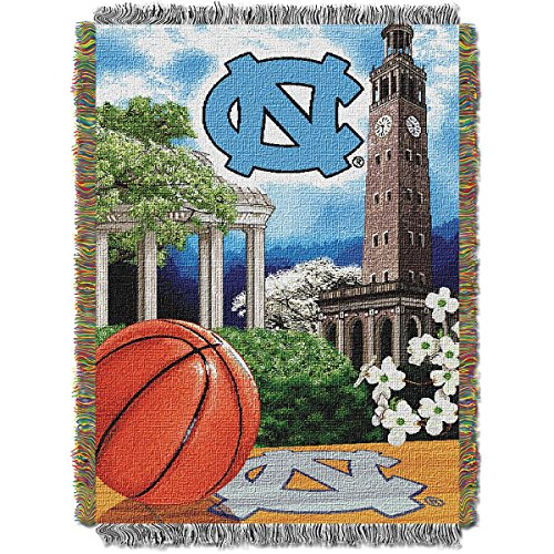 The Northwest Company North Carolina Tar Heels Home Field Advantage Woven Tapestry Throw