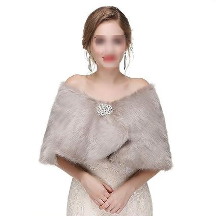 Chal de abrigo de bufanda Wrap Shawl de invierno para mujer Bufandas nupciales de la chaqueta