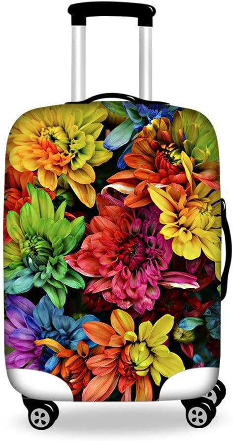 XL , style 7 Luggage Covers Protector Plants Floral Washable Suitcase Cover for 18-32 Inch Carry On Covers 30-32 Cover