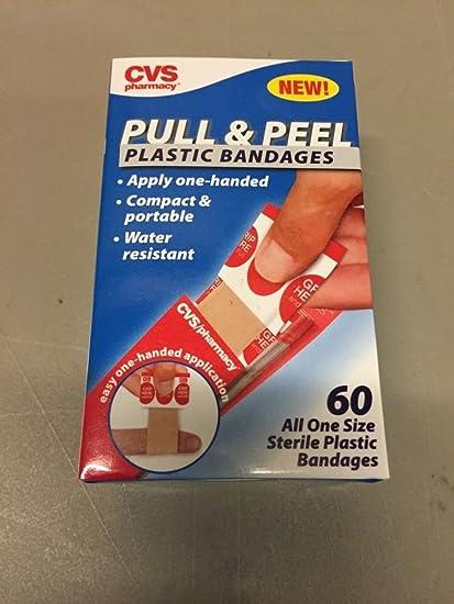Amazon Com Cvs Pull Peel Plastic Bandages Apply One Handed