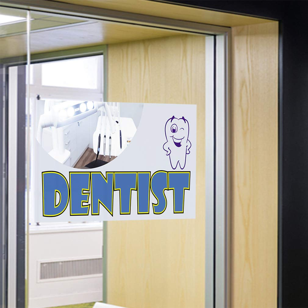 One Sticker 69inx46in Decal Sticker Multiple Sizes Dentist #1 Style A Health Care Tooth Outdoor Store Sign White
