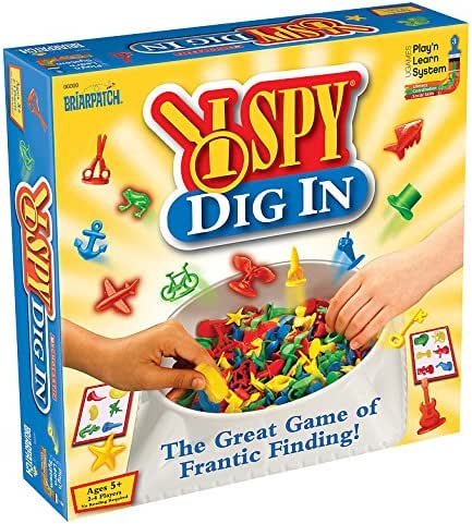 I Spy Dig In, The Great Game of Frantic Finding, Fast Paced Color & Shape Identification Game For Kids