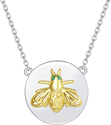 birthday gifts Valentines day gift Dainty honey bee necklace Christmas gifts for her