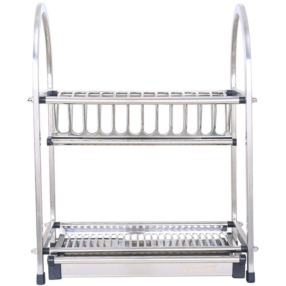 Kitchenware Space management Stainless Steel Racks Kitchen Supplies Tableware Space management Box Space management Tray Kitchen Sink Drain Dish Tray Tray Easy to install Space management Space manage