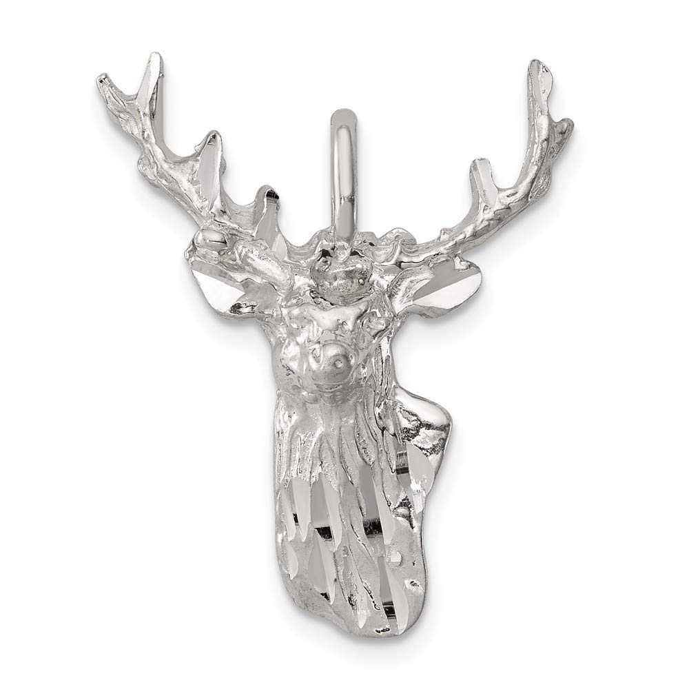 FB Jewels Solid Sterling Silver Deer Head Charm