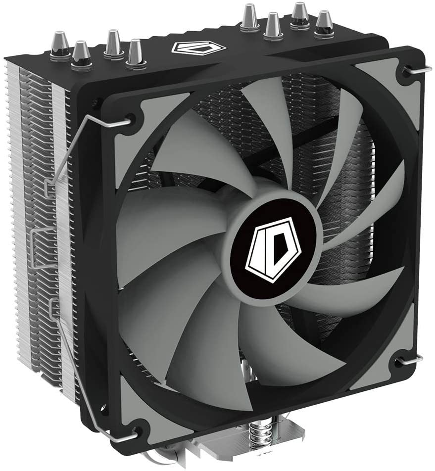 ID-COOLING SE-224-XT Basic CPU Cooler AM4 CPU Cooler 4 Heatpipes CPU Air Cooler 120mm PWM Fan Air Cooling for Intel/AMD