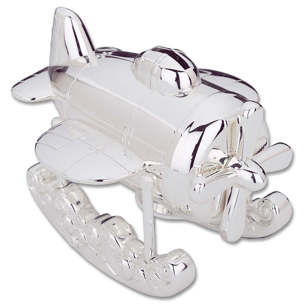 amazoncom reed  barton silver plate airplane bank home  kitchen -