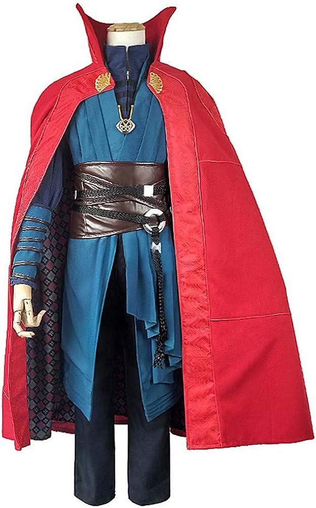 COSKING Disfraz de Doctor Strange, Bata Pesada, Color Azul y Rojo ...