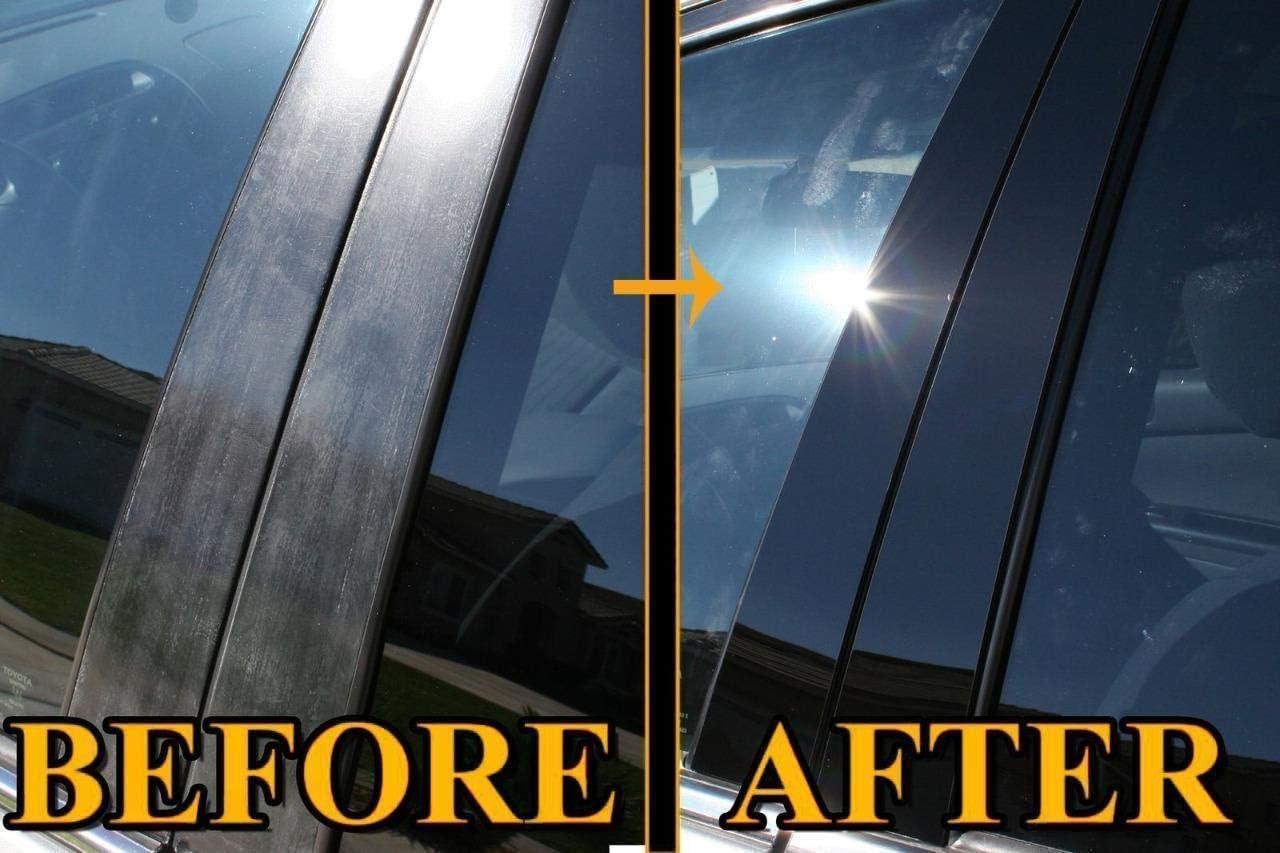 B Pillars AUTOCARIMAGE Real Black Carbon Fiber Pillar Posts Covers for BMW X6 09 10 11 12 13 14-8 Pieces