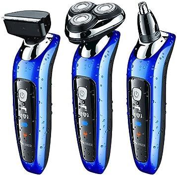 SURKER máquina de afeitar afeitadoras eléctricas Multifunción y Tres cabezas Giratoria- Mejor regalo para novio y ...