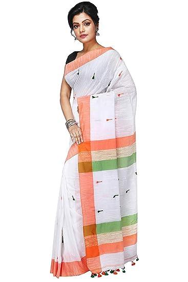 0c1c00408e Desh Bidesh Women`s Bengali Pure Cotton Saree Traditional Handloom Bengal  Tant Saree Very Soft