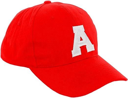 Morefaz - Gorra de béisbol roja infantil unisex, diseño con letras ...