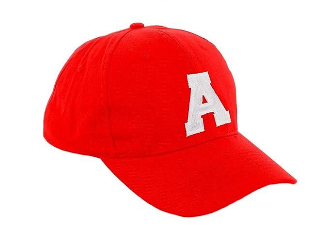 Morefaz - Gorra de béisbol roja infantil unisex, diseño con letras de A - Z multicolor a Regular: Amazon.es: Ropa y accesorios