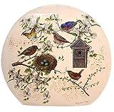 Stony Creek Lighted Round Glass - Birdhouse