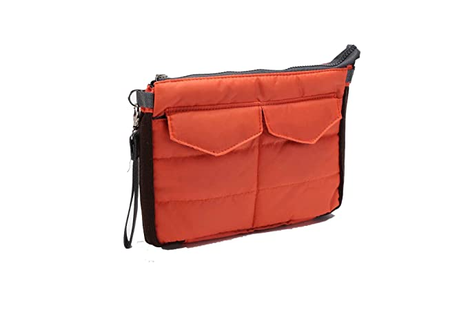Amazon.com: Travel Organiser Pouch Bag for Tablet or Computer with multiple compartments - for bag in bag, toiletries, makeup, tablets etc (Red): Q4IM