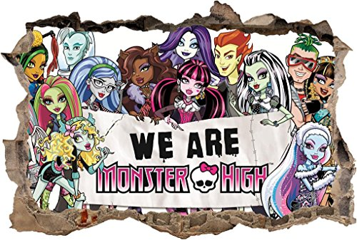 MONSTER HIGH Smashed Wall Decal Removable Wall Sticker Disney Home Art H224, Mini