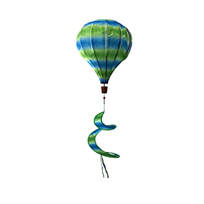 """Briarwood Lane Green & Blue Deluxe Hot Air Balloon Wind Twister Everyday 54"""" L: Garden & Outdoor"""