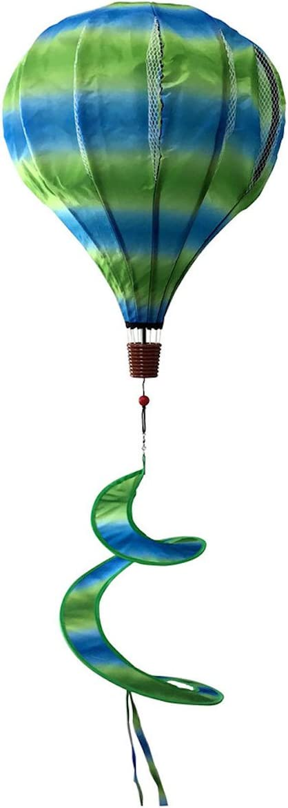Briarwood Lane Green & Blue Deluxe Hot Air Balloon Wind Twister Everyday 54
