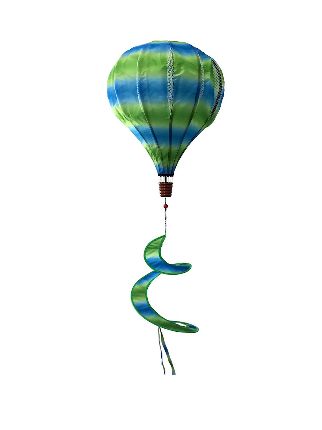 Briarwood Lane Green & Blue Deluxe Hot Air Balloon Wind Twister Everyday 54'' L by Briarwood Lane
