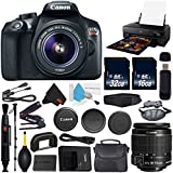 6Ave Canon EOS Rebel T6 DSLR Camera with 18-55mm Lens International Version (No Warranty) + Epson SureColor P800 Inkjet Printer + 16GB & 32GB SDHC Class 10 Memory Card + Carrying Case Bundle