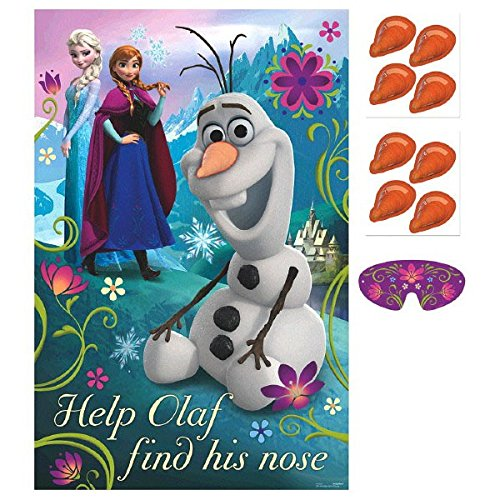 [Disney Frozen Birthday Party Game Activity Supplies (8 Pack), Multi Color, 37 1/2 x 24 1/2