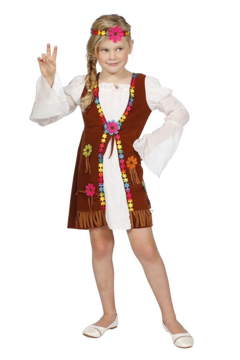 Disfraz miss hippie blanca niña 13-14 años (164 cm): Amazon.es ...