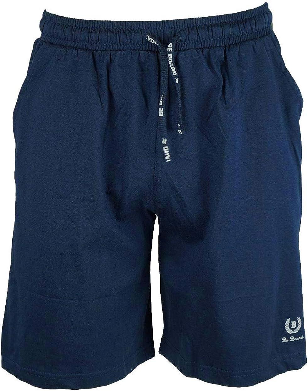 BE BOARD Pantalone Corto Bermuda Sportivo Uomo Cotone Leggero Taglie Forti Art 911 Conf