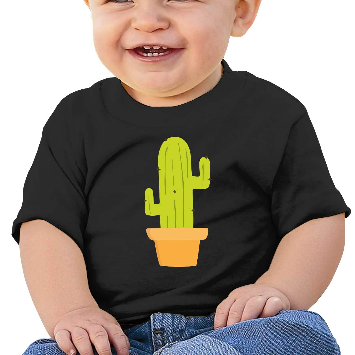 Green Cactus Baby Boys Girls Short Sleeve Crew Neck Tee Shirt 6-18 Month Tops