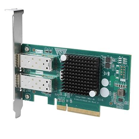 Tarjeta de Red inalámbrica, PCI-E 8X Dual SFP 10G Fast Ethernet ...