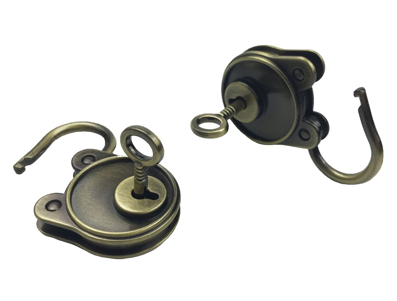 /並/行/輸/入/品 Bronze Hyamass 3pcs Vintage Antique Style Mini Archaize Padlocks Key Lock with Keys